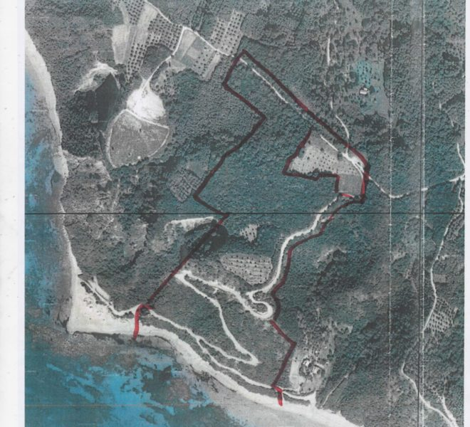 plot 40 acres by the sea Located on the South coast of Corfu